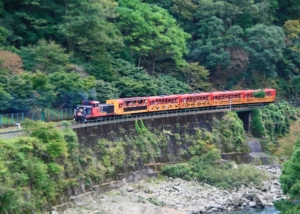 kyoto sagano romantic train