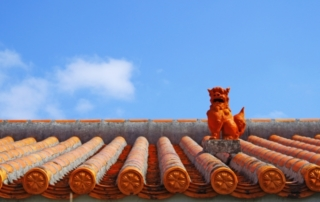 lion-shaped roof ornament of Okinawa